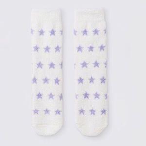 ✨5 for 30✨Fluffy Socks✨ Lavender Star Print
